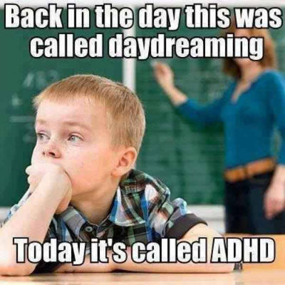 ADD/ADHD kids are just daydreaming