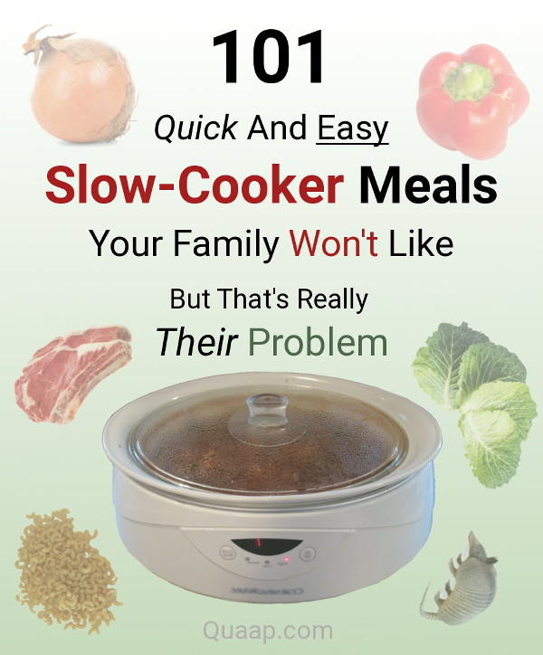 101 Quick And Easy Slow-Cooker Meals Your Family Won't Like But That's Really Their Problem